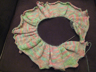 Knit Along:  Peony Scarf from Gabriella's - Day 4 2