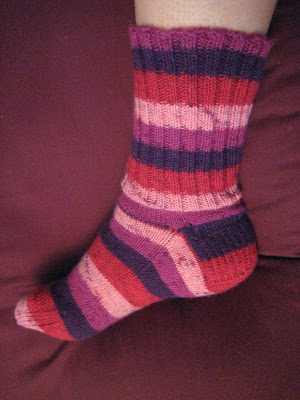 Knit Along:  Socks from Crafty Hands - DONE! 1