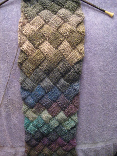 Knit-Along:  Entrelac Scarf from A Tangled Skein - Day 4 1