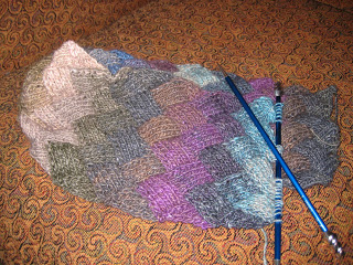 Knit-Along:  Entrelac Scarf from A Tangled Skein - Day 5 1