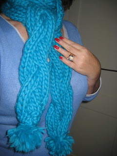 Knit Along:  Mega Cabled Scarf from Stitch DC - Done! 2