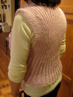 Knit Along: Shawl Collar Vest from Lamb Shoppe - DONE! 5