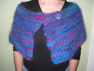 Knit Along:  Mohair Shrug from Showers of Flowers - DONE! 1