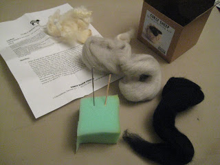 Knit-Along: Curly Sheep Needlefeltling from Fancy Tiger - Day 1 5