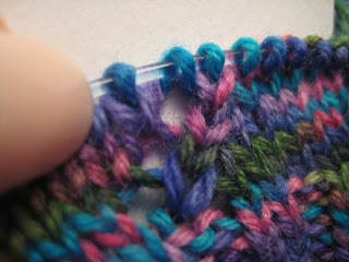 Knit Along:  Comin' Round the Mountain Socks from Hearthstone Knits - Day 1 2