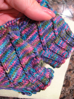 Knit Along:  Comin' Round the Mountain Socks from Hearthstone Knits - Day 2 2