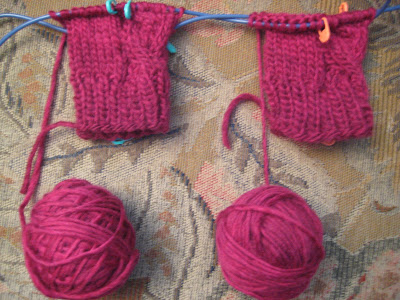 Knit Along:  Cabled Hand Mitts from Mass Ave Knit Shop - Day 2 3
