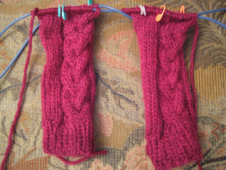 Knit Along: Cabled Hand Mitts from Mass Ave Knit Shop - Day 3 3