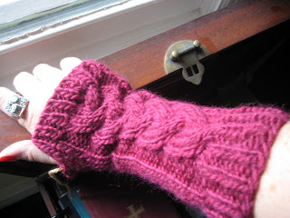 Knit Along:  Cabled Hand Mitts from Mass Ave Knit Shop - Day 4 1