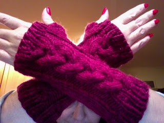 Knit Along:  Cabled Hand Mitts from Mass Ave Knit Shop - Done! 3