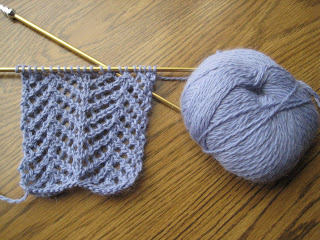 Knit Along:  Angora Lace Scarf from Lion Brand Studio - Day 1 3