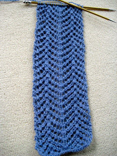 Knit Along:  Angora Lace Scarf from Lion Brand Studio - Day 2 5