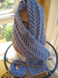 Knit Along:  Angora Lace Scarf from Lion Brand Studio - Day 4 1