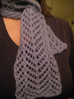 Knit Along: Angora Lace Scarf from Lion Brand Studio - DONE 2