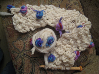 Knit Along: Hand Spun Bouquet Scarf from Loopy Mango - Day 3 2