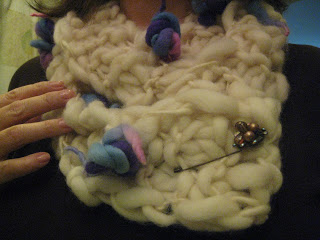 Knit Along: Hand Spun Bouquet Scarf from Loopy Mango - Done! 6
