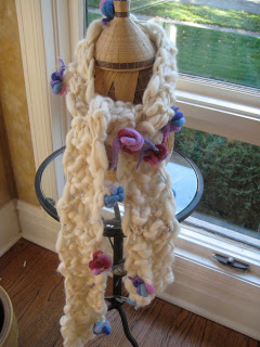 Knit Along: Hand Spun Bouquet Scarf from Loopy Mango - Done! 5