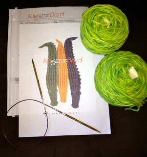 Alligator Scarf from Knitting Under the Influence of Nancy 5