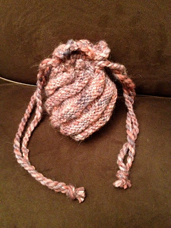 Spiral Pouch from A Knitted Peace - Done! 5