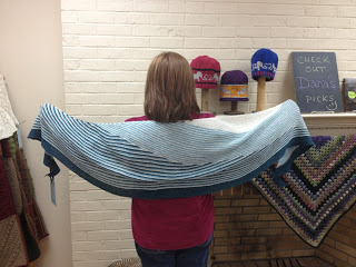 Color Affection Shawl from Bliss Yarns - Day 1 7