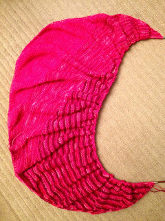 Color Affection Shawl from Bliss Yarns - Day 4 5