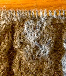 Diana's Aran Shawl from Three Black Sheep - Day 6 6