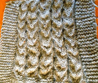 Diana's Aran Shawl from Three Black Sheep - Day 6 5
