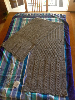 Diana's Aran Shawl from Three Black Sheep - Done! 9