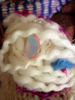 Sandy's Art Yarn Hat from Orange Kitten Yarns and Homestead Wool and Gift Farm 7
