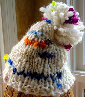 Sandy's Art Yarn Hat from Orange Kitten Yarns and Homestead Wool and Gift Farm 9