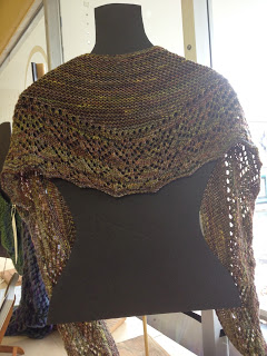 Arroyo Shawl from Yarn Shop and More - Day 1 6