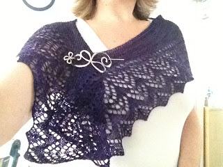 Arroyo Shawl from Yarn Shop and More - Done! 3