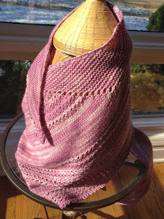 Mapes Shawl from Lovin' Knit - Done! Also: WIN FREE YARN & BOOKS 7