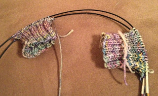 Hiawassee Handwarmers from The Needle Nook - Day 1 2
