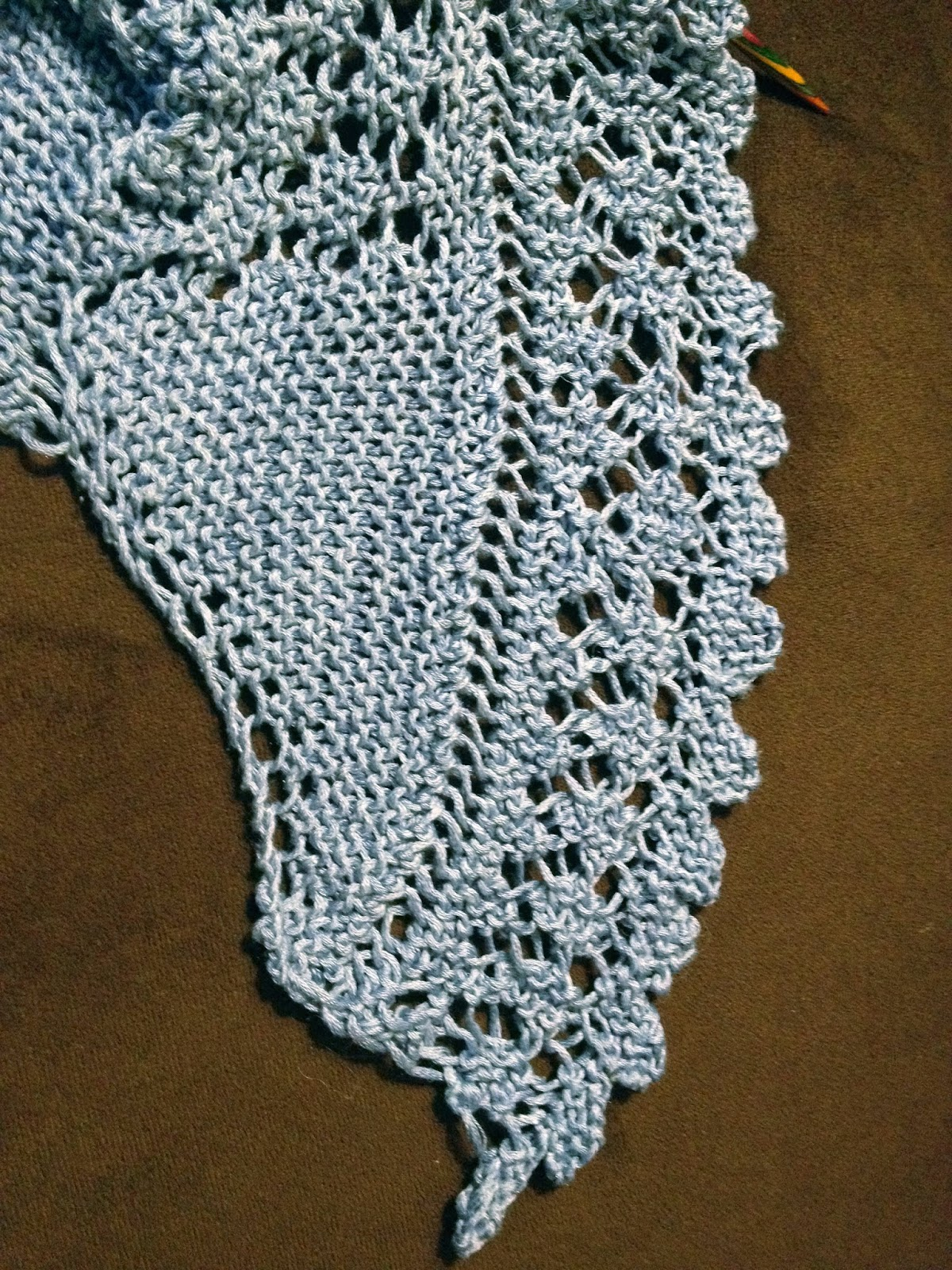 Darjeeling Shawl from Yarning for Ewe - Day 5 1