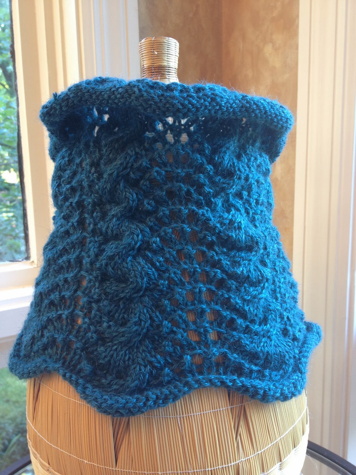 Cabled Feather Cowl from The Studio - Done! 6