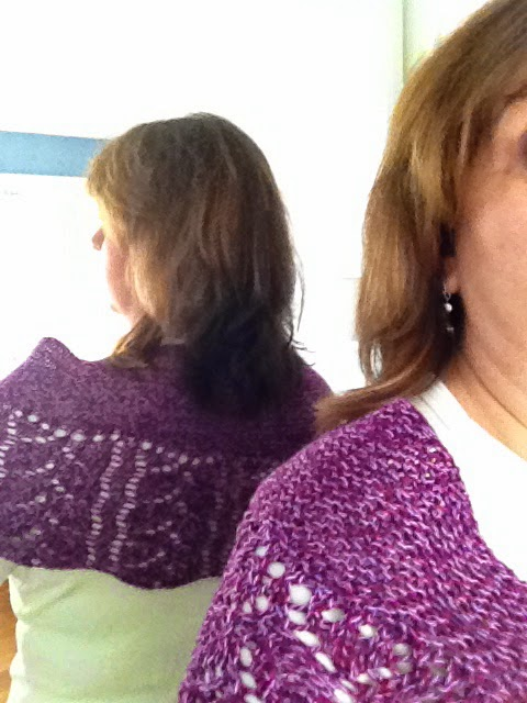 Rose Garden Shawl From Knit N Purl - Done! 9