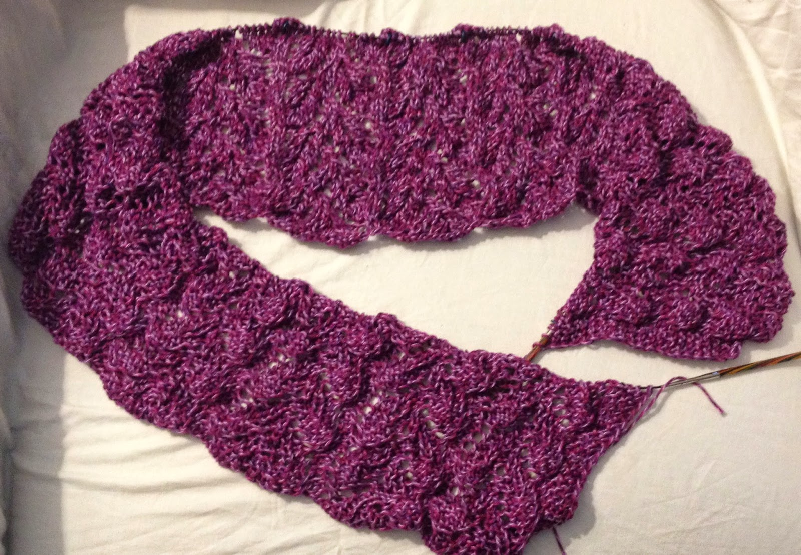 Rose Garden Shawl From Knit N Purl - Day 4 5