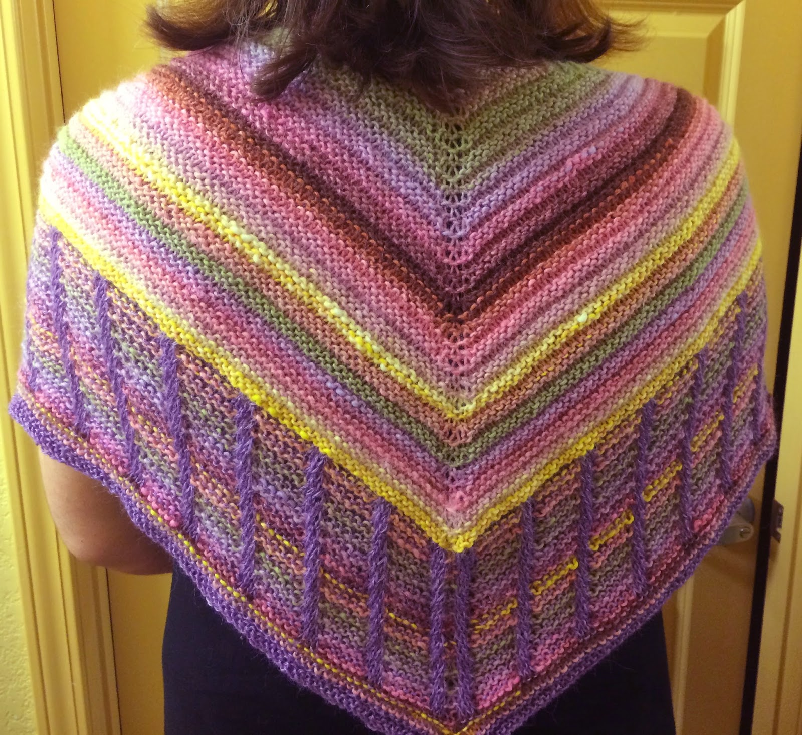 Metalouse Shawl from Knit Nirvana - Done! 9