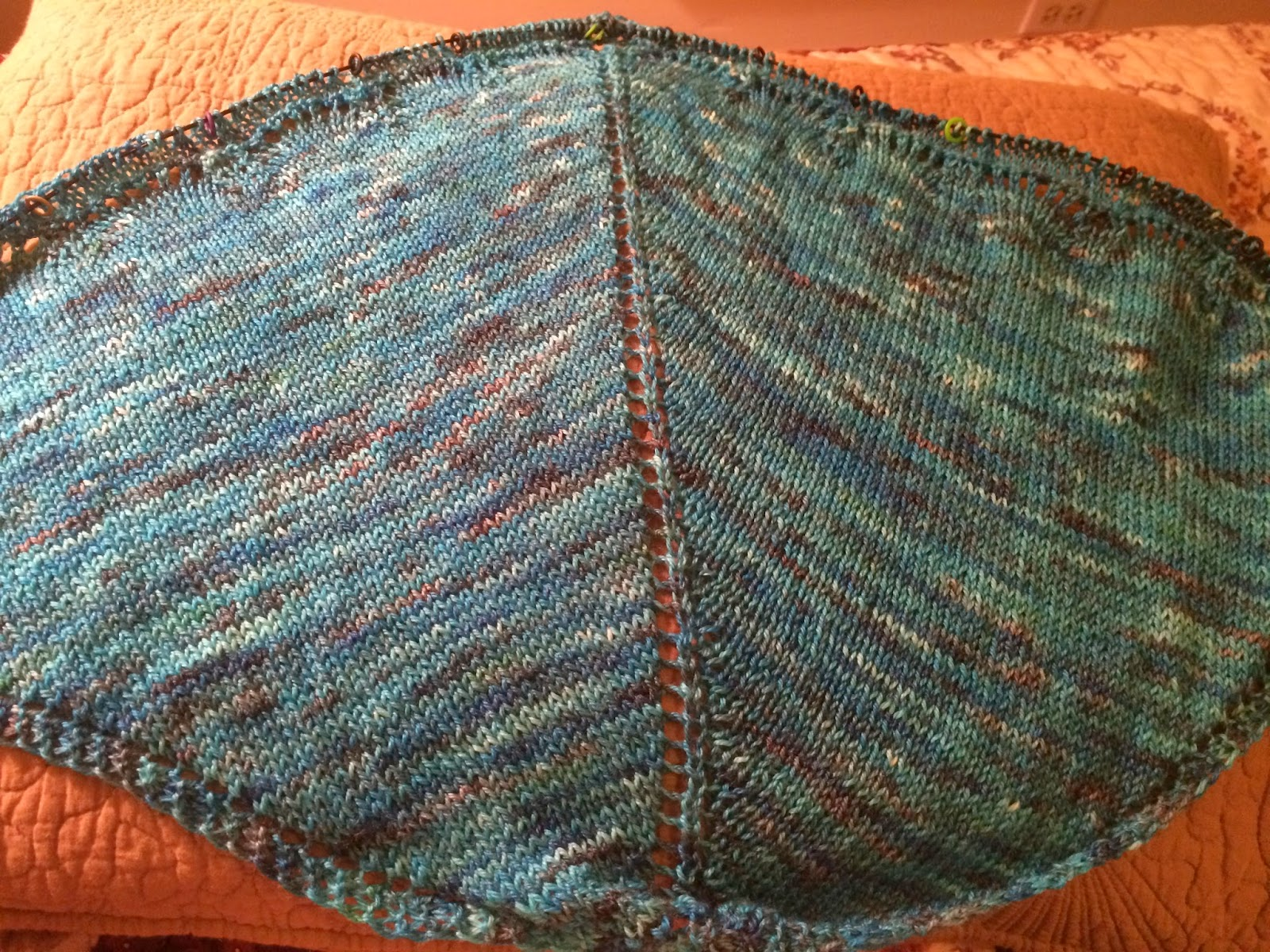 Holden Shawlette from The Artful Yarn - Day 2 5