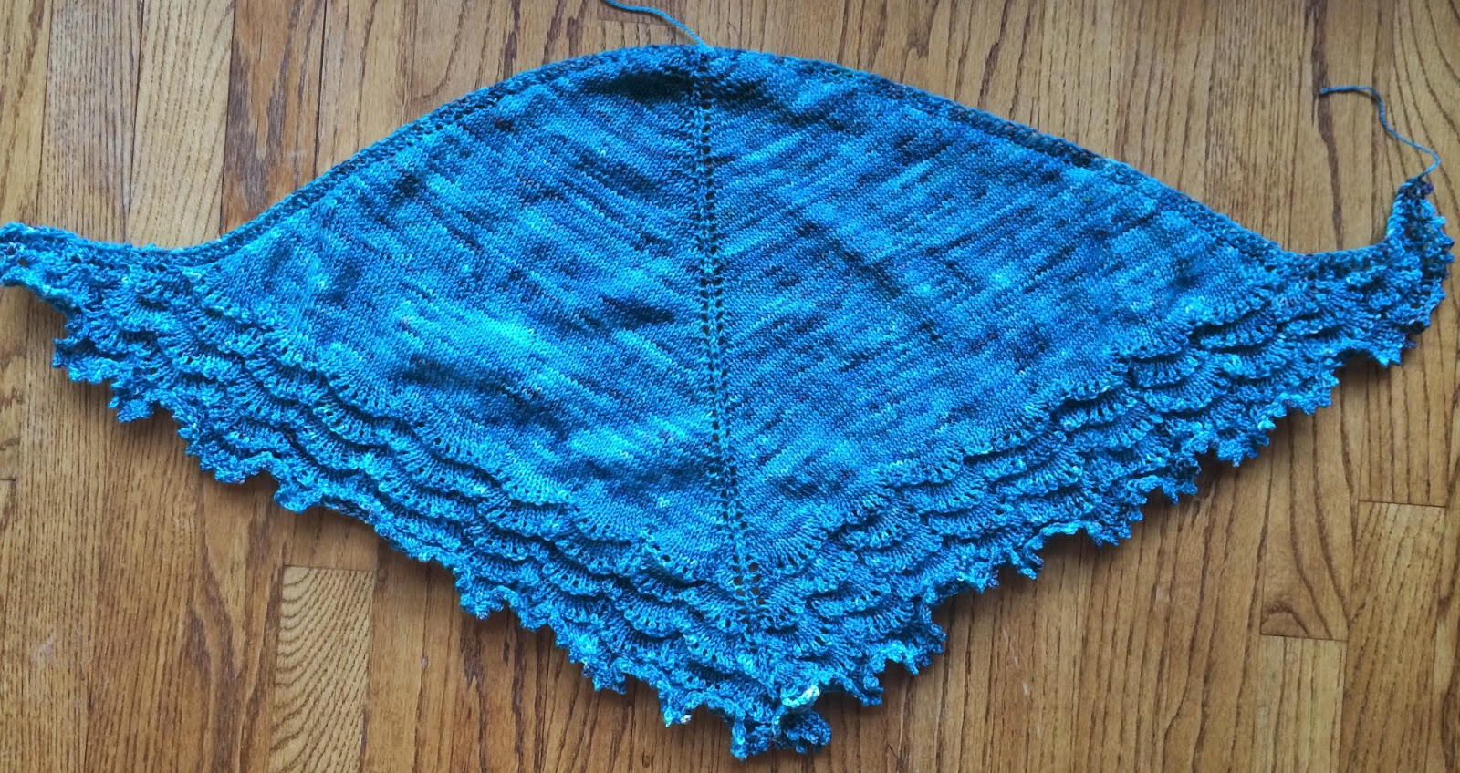 Holden Shawlette from The Artful Yarn - Done! 11