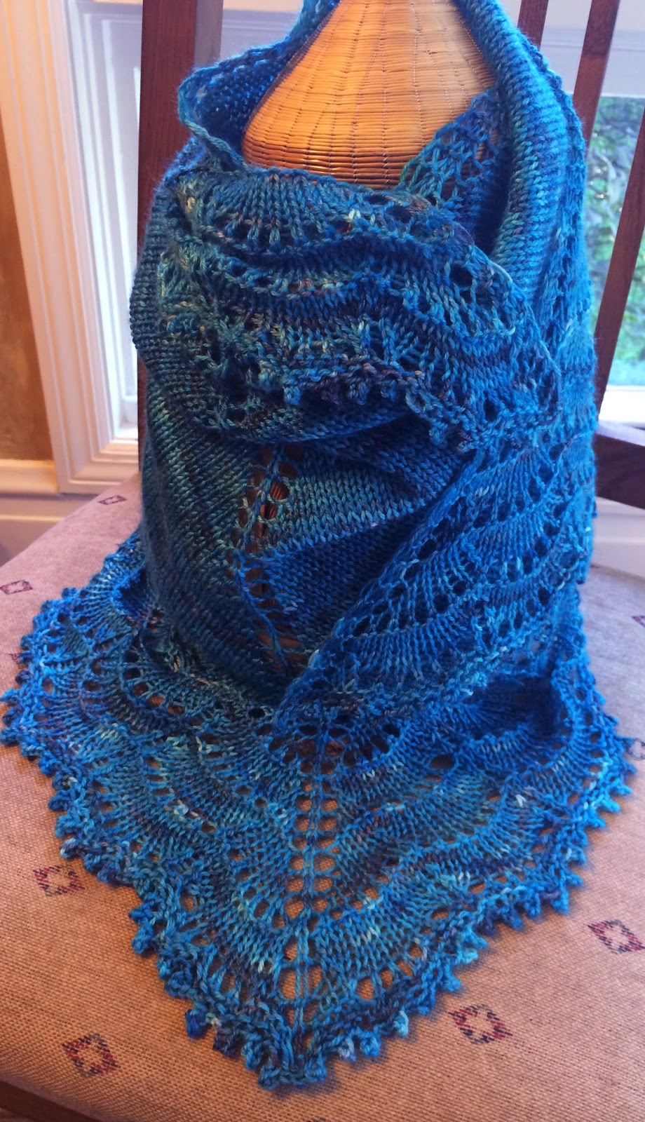 Holden Shawlette from The Artful Yarn - Done! 15