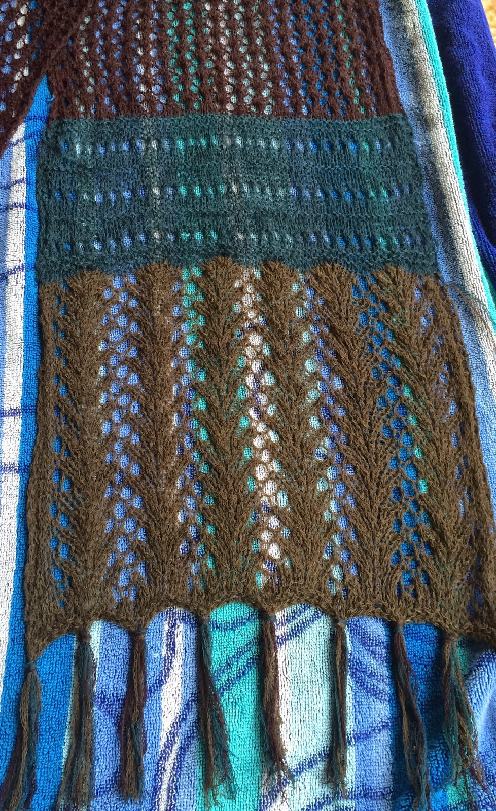 Lady Fern Scarf from Hill Country Weavers - DONE! 9