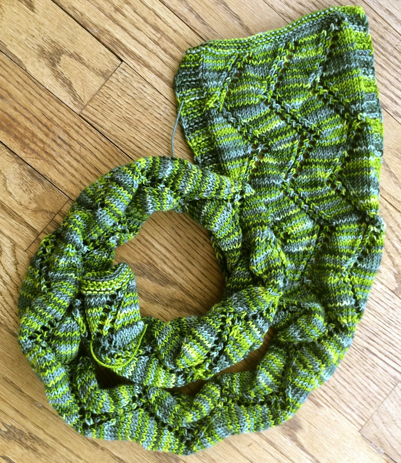 Alexandra Scarf from Gauge Knits - Done! 1