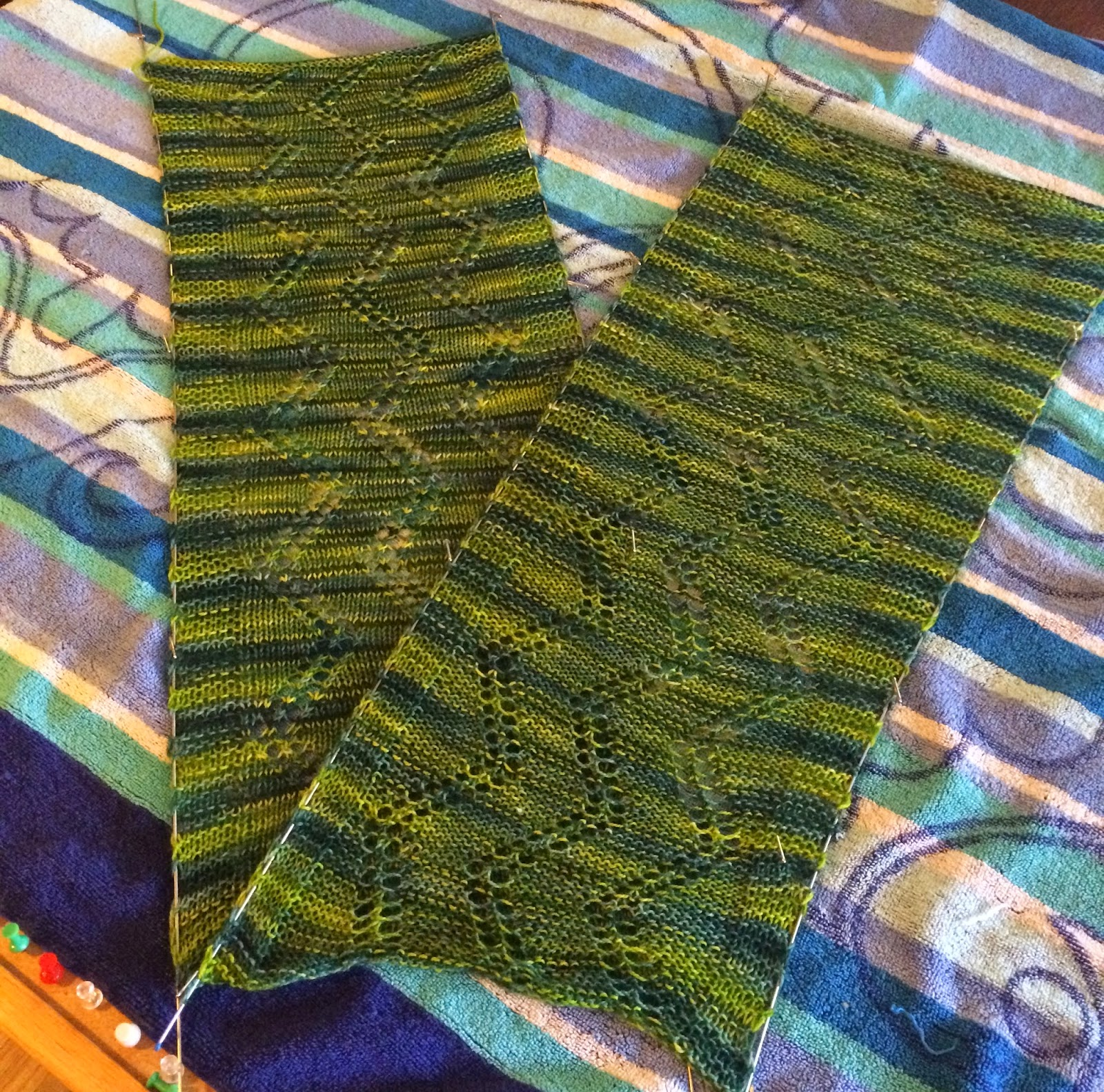 Alexandra Scarf from Gauge Knits - Done! 2