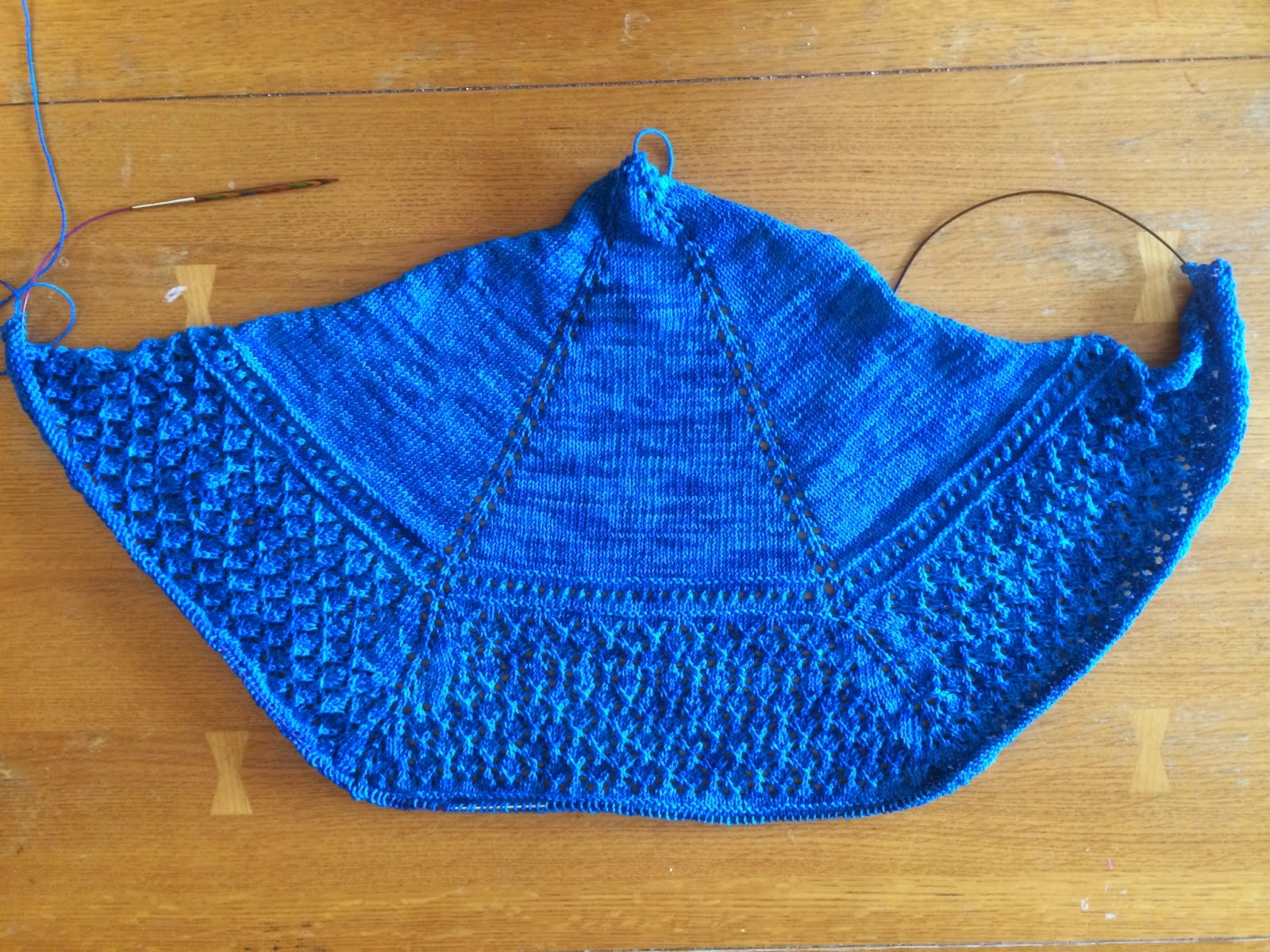 Uliuli Wai Shawl from Needlecraft Cottage - Day 4 1