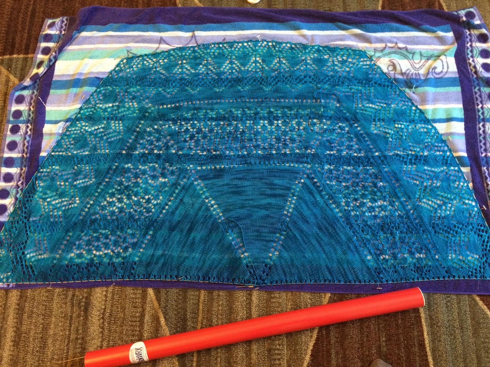 Uliuli Wai Shawl from Needlecraft Cottage - Day 6 15