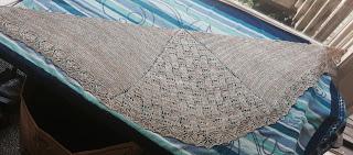 Wavelength Shawl from Holley's Yarn Shoppe - Done! 2
