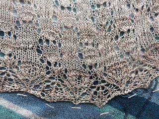 Wavelength Shawl from Holley's Yarn Shoppe - Done! 3