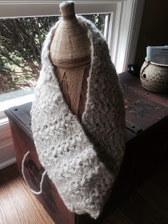 Lace Cowl from Rainbow Yarn & Fibres - Done! 2